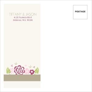 Pink Flowers Custom Envelope