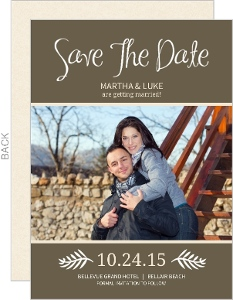 Brown and Cream Modern Save The Date Announcement