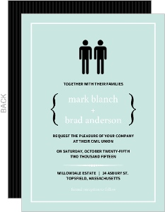 Blue Modern Family Wedding Invitation