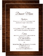 Wooden Picture Perfect Love Menu Card