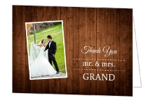 Wooden Picture Perfect Love Thank You Card