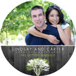 Modern Rustic Gray and White Tree Save The Date
