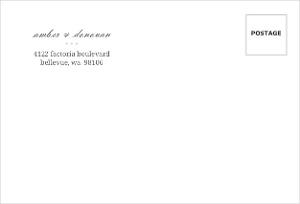 Infinity Monogram Champagne Custom Envelope