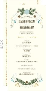 Woodland Rustic Frame Wedding Program