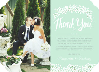 Wedding Thank You Cards from Wedding Paperie