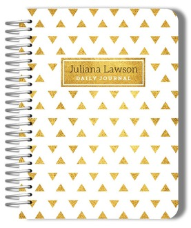 Faux Gold Foil Pattern Wedding Journal