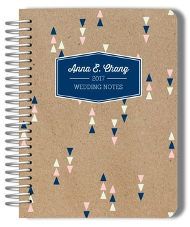 Kraft Chic Triangles Wedding Journal