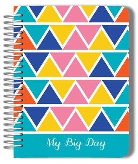Bold Hues Triangle Pattern Wedding Journal