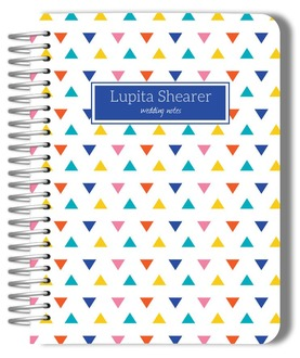 Colorful Modern Triangles Wedding Journal
