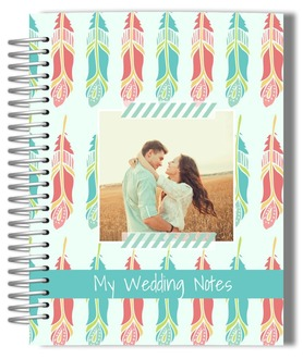 Vintage Feathers Wedding Journal