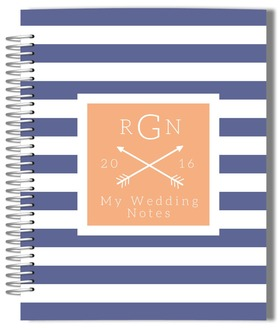 Bold Blue Stripes Wedding Journal