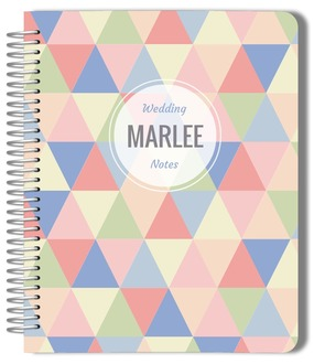 Geometric Modern Pastel Pattern Wedding Journal