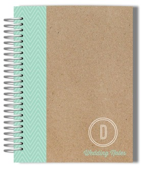 Krafty Mint Monogram Wedding Journal