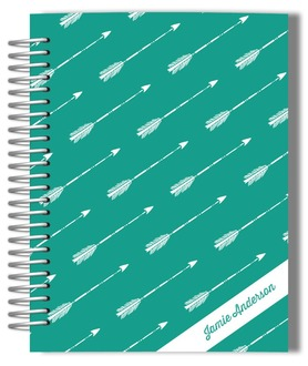 Green Arrow Pattern Wedding Journal