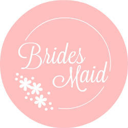Pink Floral Bridesmaid Custom Button