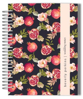 Vintage Pomegranate Blooms Wedding Journal