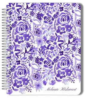 Purple Watercolor Floral Wedding Journal