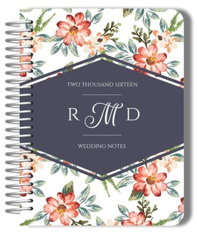 Delicate Watercolor Flowers Wedding Journal