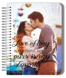 Custom Photo Love Story Wedding Journal