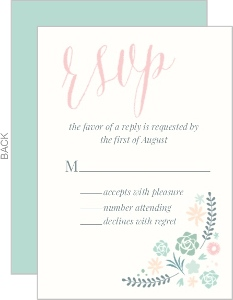 Flourishing Succulents Wedding Response Card
