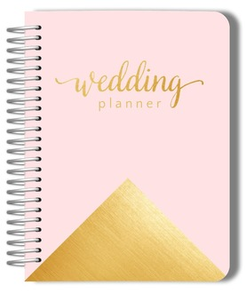 Pink and Faux Gold Foil Wedding Planner