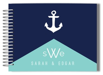 Modern Nautical Anchor Wedding Guest Book