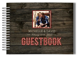 Rustic Marquee Photo Wedding Guest Book