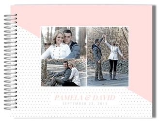 Soft Blush Polka Dot Wedding Guest Book