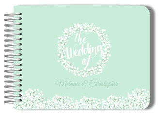 Whimsical Babys Breath Wedding Guest Book