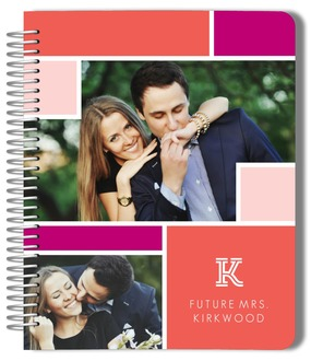Monogram Photo Colorblock Wedding Journal