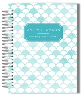 Watercolor Scallop Pattern Wedding Journal