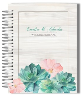 Watercolor Succulents Wedding Journal