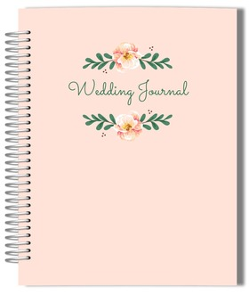 Pink Floral Simplicity Wedding Journal