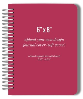 Upload Your Own Design 6x8 Soft Cover Journal