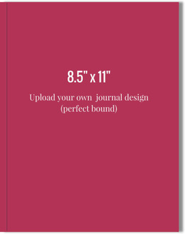 8.5x11 Perfect Bound Journal - Upload Your Own Design