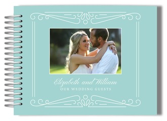 Blue Photo Frame Wedding Guest Book