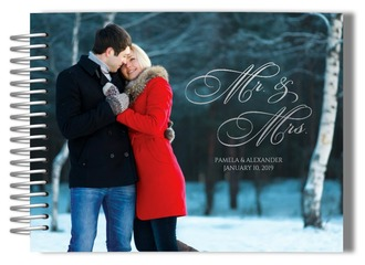 Photo Mr and Mrs Wedding Guest Book