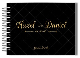 Black and Gold Arrow Wedding Guest Book
