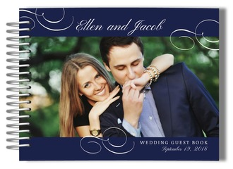Flourished Photo Wedding Guest Book