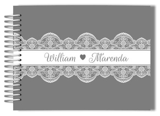 Elegant Lace Wedding Guest Book