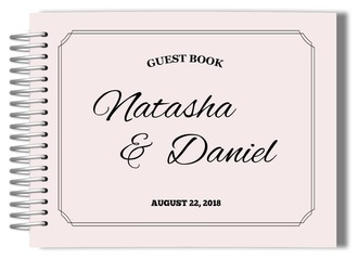 Blush Double Frame Wedding Guest Book