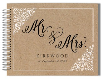 Kraft Mr and Mrs Frame Wedding Guest Book