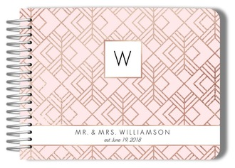 Geometric Blush Wedding Guest Book