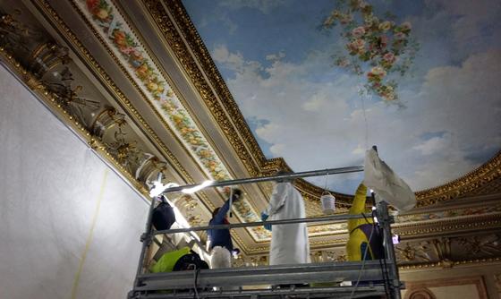 plafond en restauration
