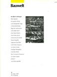 BAUWELT n°11, Mars 1997