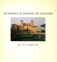 L'ACADEMIE DE FRANCE A ANACAPRI/catalogue de l'exposition. 1984