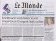 Le Monde, samedi 13 février 2010