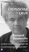 Conférence à L'Ecole d'Architecture de la Ville et des Territoires de Marne la Vallée, 21 oct.2014