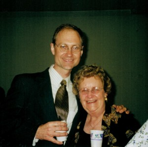 DET with Geneva Eschweiler, 2000 at premiere of Singers to Come