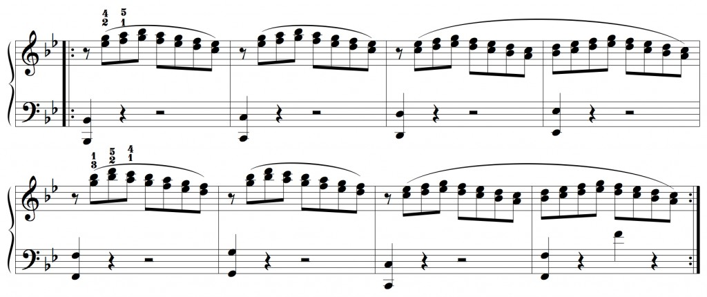 musical example of g minor etude